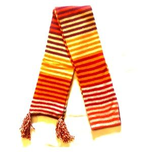 NWOT PUMPKIN SPICE STRIPED AMERICAN EAGLE OUTFITTERS LAMBSWOOL LONG SCARF